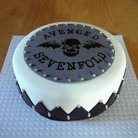 Avenged Sevenfold cake! My birthday soon... :) haha