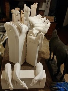 New sculptures waiting to be photographed. February 2016