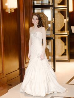 Sophisticated Bridal Gown | photography by http://www.rebeccayaleportraits.com