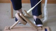 Using the True Creations' Portable Kick Spindle, via YouTube. I am so getting one of these, can't wait!
