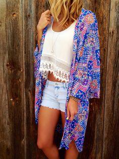 Summer Breeze Chiffon Kimono
