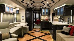 Extreme Luxury RV - Many peoples homes dont have the fine and luxurious materials used to outfit the interiors of this motor home.