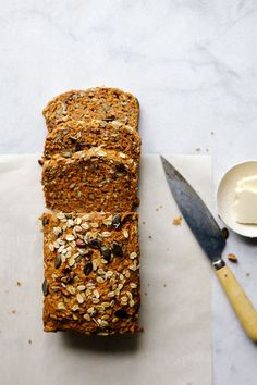 Morning Glory Loaf from Quick Healthy Breakfast Ideas & Recipe for Busy Mornings Healthy Breakfast Recipes, Vegetarian Recipes, Cooking Recipes, Breakfast Smoothies, Healthy Breakfasts, Breakfast Ideas, Healthy Snacks, Vegan Baking, Healthy Baking