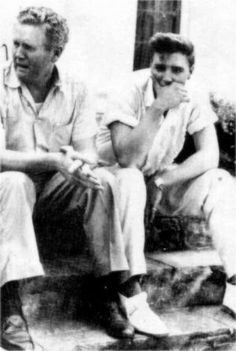 August 14 1958 Gladys died in hospital and Elvis and his father were inconsolable. Here sitting on the stairs of Graceland porch.