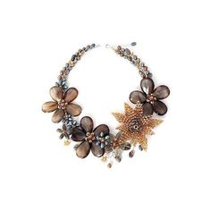 NOVICA Cultured pearl and smoky quartz floral necklace ($142) ❤ liked on Polyvore featuring jewelry, necklaces, agate, beaded, flower jewellery, flower jewelry, freshwater pearl necklace, clear crystal necklace and clear bead necklace