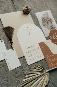 Boho Curve Wedding Invitations Wedding invite with curved top. Natural wedding stationery with dried f Natural Wedding Stationery, Wedding Stationery Inspiration, Modern Wedding Invitations, Wedding Stationary, Wedding Invitation Design, Wedding Inspiration, Wedding Ideas, Elope Wedding, Boho Wedding