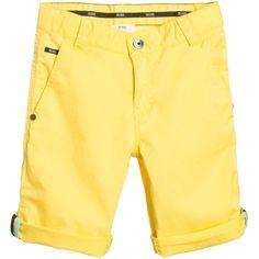 Hugo Boss Boys Yellow Bermuda Shorts