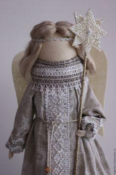 """""""Рождественский ангел"""" кукла-образ... - серый, ангел, ангел рождества, русский стиль"""