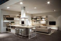 Cucina e soggiorno open space cucine pinterest