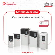 The factories of tomorrow call for bigger, efficient and smarter pieces of equipment. Rockwell Automation's Variable Speed Drives are built to meet your toughest requirements and power on your efficiency. Get them today with Pima! Rockwell Automation, Factories, Meet