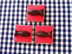 Galletas con peces de chocolate. ¡Un vicio!