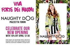 NaughtyDog new flagship store will open tomorrow, Saturday April 12th in #FortedeiMarmi! Come visit us!