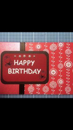 Handmade lady / woman / girl birthday card