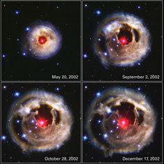 Super nova (super gigante roja). Su brillo supero 600,000 veces la luz del Sol