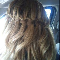 Graduation hair :) waterfall braid