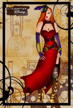 Steampunk Jessica Rabbit by HelleeTitch.deviantart.com on @deviantART  Love Jessica Rabbit!