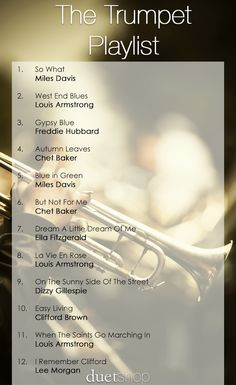 Sit back, relax, and enjoy some of the best jazz trumpet there is to offer. Party Playlist, Playlist Ideas, Song Playlist, Jazz Trumpet, Trumpet Music, Most Relaxing Song, Relaxing Music, Sound Of Music, Music Is Life