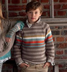Modèle pull garçon rayé - Modèles tricot enfant - Phildar