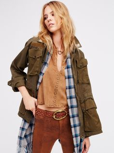 Standard Form Peace Out Military Shawl Jacket at Free People Clothing Boutique
