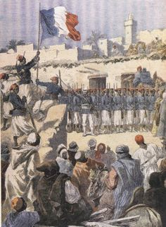 Drapeau français flottant sur Tombouctou - 1894