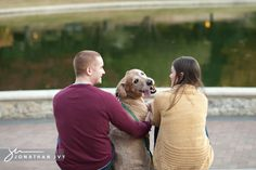 Fall Engagement Photos with the dog!! yes