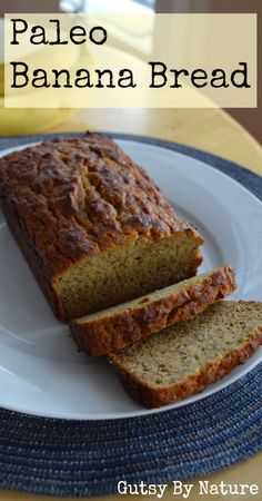 This is the best! Paleo Banana Bread (Grain Free, Dairy Free, Nut Free) - Gutsy By Nature Paleo Banana Bread, Paleo Bread, Paleo Baking, Banana Bread Recipes, Gluten Free Baking, Zucchini Bread, Paleo Diet, Dairy Free Recipes, Low Carb Recipes