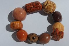 Handmade Ceramic Beads Set of 10 Various by BlackHairySpiderArts