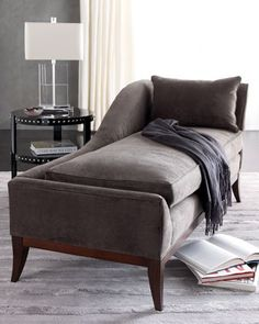 Chaise lounge as alternative to sofa / love seat. Perfect for a small living room.
