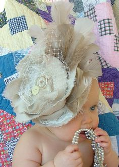 Couture Shabby Chic Fabric Flower Hair Clip by FarmhouseDebutantes, $32.50