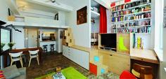 Architect's Loft. From 150 Best Mini Interior Ideas by Francesc Zamora Mola. Architect PorterFanna Architecture. Photograph © L.J. Porter. Published by Harper Design, an imprint of HarperCollins Publishers; © 2014 by Harper Design and LOFT Publications.