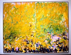 Image result for two sunflowers joan mitchell
