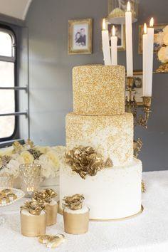 Gold Glitter Wedding Cake Tausendschon Photographie