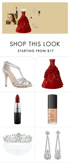 """""""Queen Lucy The Valiant"""" by luvnarnia ❤ liked on Polyvore featuring Miss KG, MAC Cosmetics, NARS Cosmetics, Kate Marie and Elegant"""