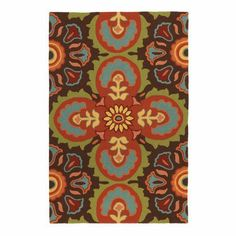 Talavera Tile ColorSpree Rug in Espresso (Geometric Pattern, outdoor rugs) | Handmade Area Rugs from Company C