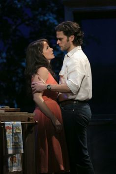 "Kelli O'Hara and Steven Pasquale in the new musical ""The Bridges of Madison County."" #Broadway #Musicals"