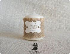 Marturie lumanare rustica   Accesorii nunta - Marturii de nunta Wedding Inspiration, Wedding Ideas, Ale, Wedding Planner, Candle Holders, Place Card Holders, Candles, Homemade, Anul Nou