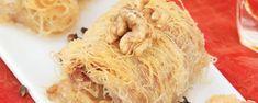 Κανταΐφι Greek Sweets, Cabbage, Spaghetti, Vegetables, Ethnic Recipes, Food, Essen, Cabbages, Vegetable Recipes