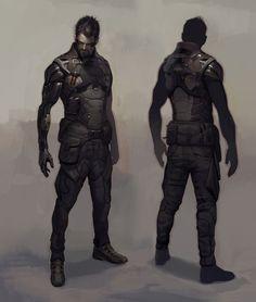Adam Jensen body armor concept art - Deus Ex Mankind Divided