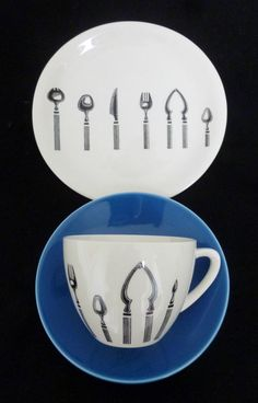 Rare BRISTOL LONGLINE Tea Trio - Honor Elliot 1960s