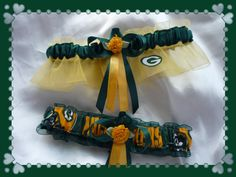 Green Bay PACKERS Wedding Garter Combo by TheArtofSports on Etsy