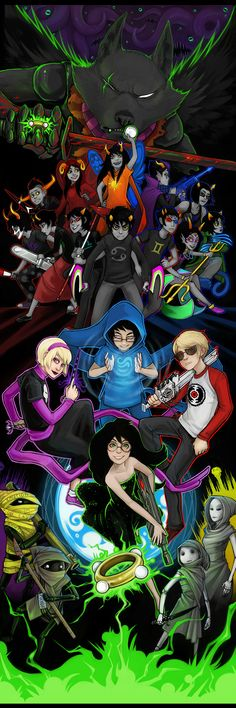 A fantastic piece of Homestuck art, done by one of the members of the Homestuck art team. It's...glorious!