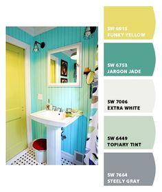 Beach bathroom idea....Paint colors from Chip It. by Sherwin-Williams