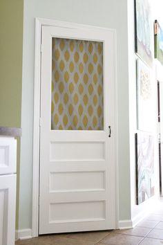 I would replace the bifold door between the kitchen and laundry with a screen door. It would allow ventilation and pretty cloth panels could be hung for privacy.