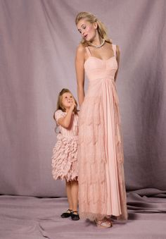 Langes Spitzenkleid lace gown in pink