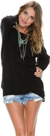 get 50% off the SWELL BEAR HUG RIPPED BACK SWEATER. http://www.swell.com/Sale/50-Off-Womens