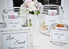 Fabulous cookie bar for late night snack with custom signs. www.murphyweddings.com