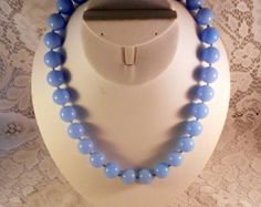 Vintage Estate CROWN TRIFARI 1960's Chunky Blue Lucite Bead Necklace - Edit Listing - Etsy