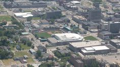 Awesome shot of the #Uht and #EIA from 1000 feet above #Erie today in a B-17 WWII bomber! @erie_seawolves @ErieOtters
