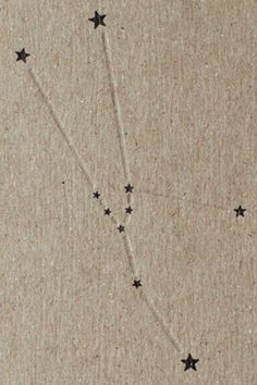 Taurus constelation, cool idea for a tattoo. Just dots where the stars are.