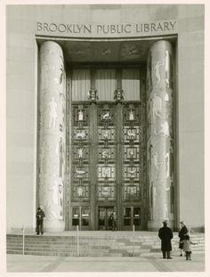 Brooklyn Public Library, Brooklyn, NYC, New York  Historic 1930s Photo